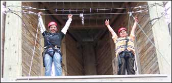 challenge course climbers